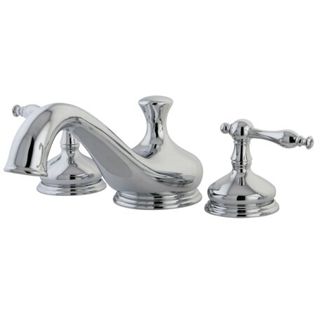 Heritage Double Handle Deck Mounted Roman Tub Faucet Trim by Kingston Brass Kingston Brass