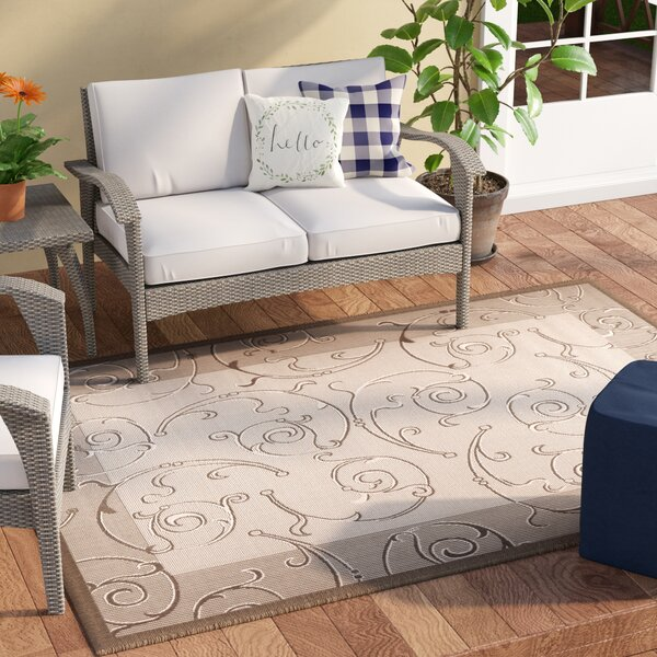 Unique Natural/Brown Indoor/Outdoor Area Rug by Ophelia & Co.