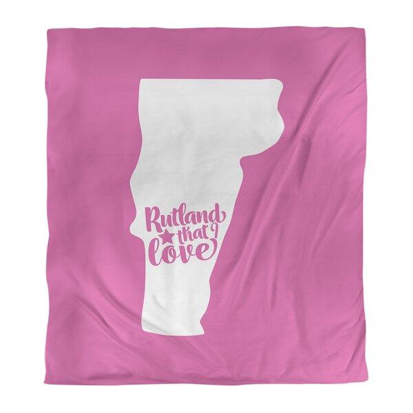 Rutland Vermont Love Single Reversible Duvet Cover