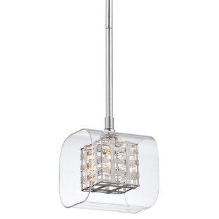 Check Prices Artemisia 1-Light Square/Rectangle Pendant By Willa Arlo Interiors