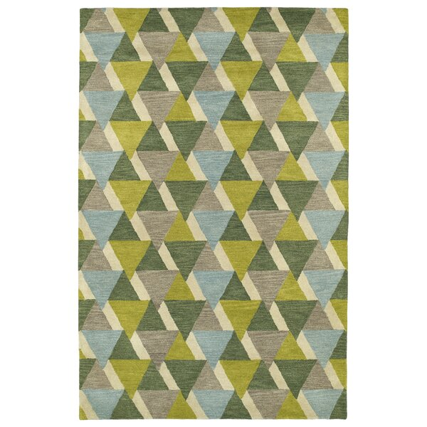Dresden Hand Tufted Green/Brown Area Rug by George Oliver
