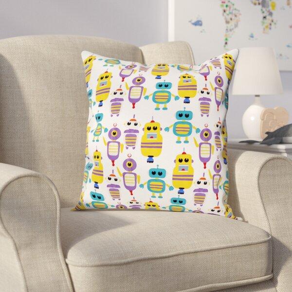 Shelia Robots Everywhere! Throw Pillow by Viv + Rae
