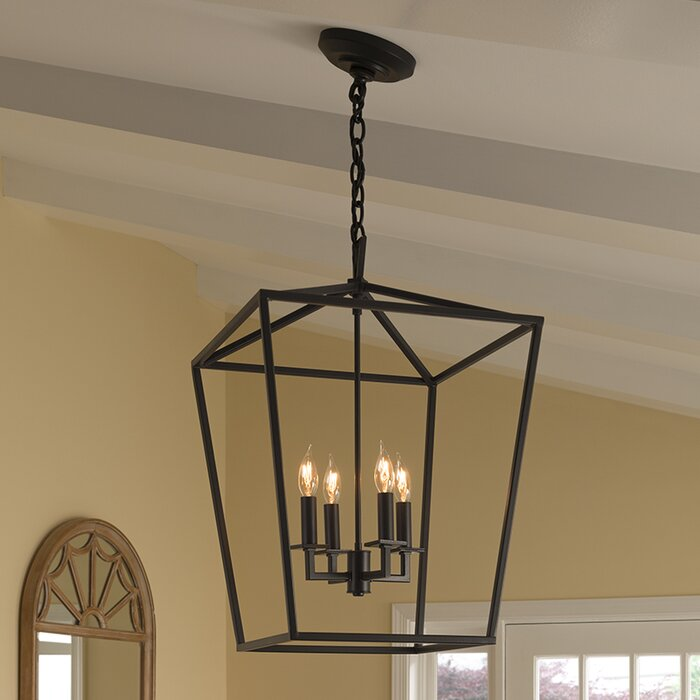 Norwell lighting cage 4 light foyer pendant reviews wayfair cage 4 light foyer pendant aloadofball Image collections