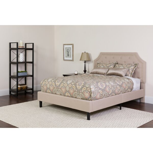 Porath Tufted Upholstered Platform Bed with Mattress Charlton Home CHRH6401