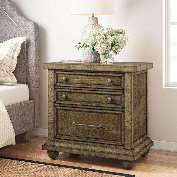 Aberdash 2 Drawer Nightstand by Three Posts