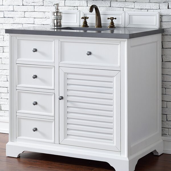 Osmond Traditional 36 Single Ceramic Sink Cottage White Bathroom Vanity Set by Greyleigh