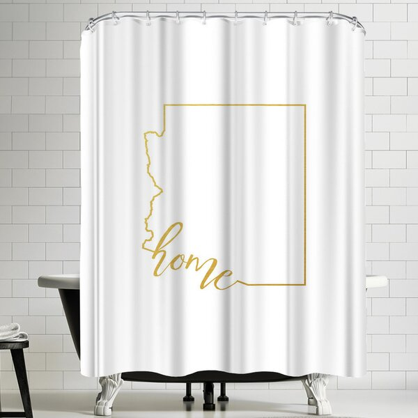 Paperfinch Arizona Home Shower Curtain by East Urban Home