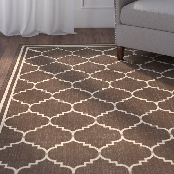 Herefordshire Chocolate/Cream Indoor/Outdoor Rug by Winston Porter
