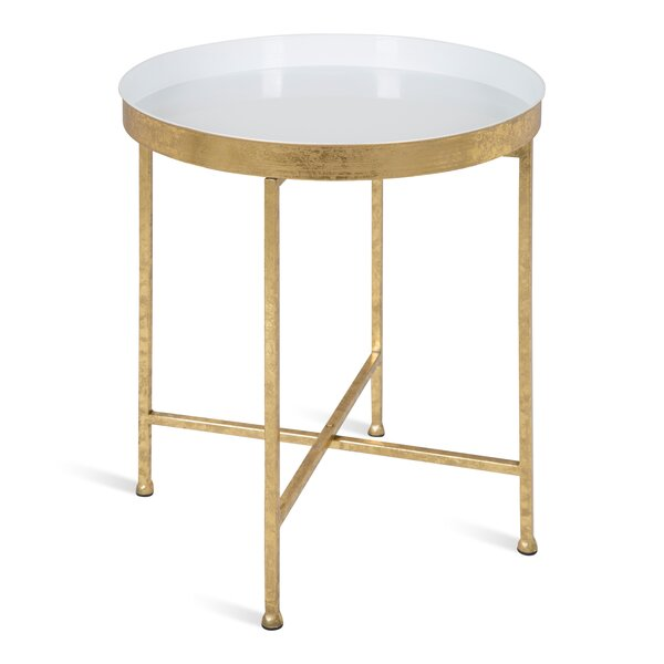 Dishman Tray Top Cross Legs End Table By Mercer41