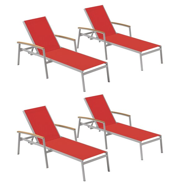 Caspian Reclining Chaise Lounge (Set of 4)