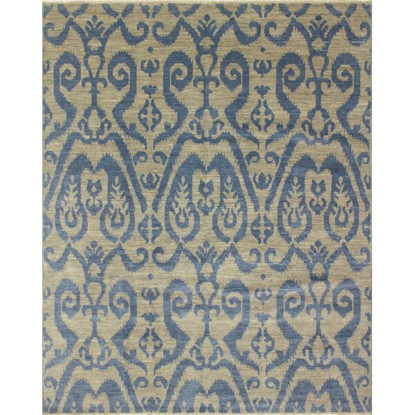 One-of-a-Kind Lona Rectangle Hand-Knotted Gray/Blue Area Rug by Isabelline