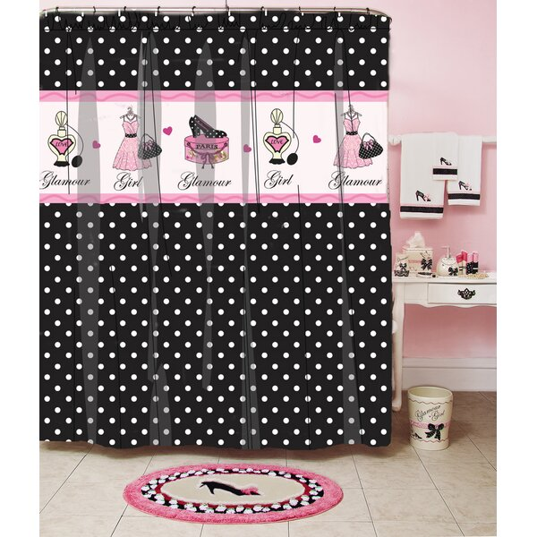 Glamour Polka Dot Shower Curtain by Homewear Linens