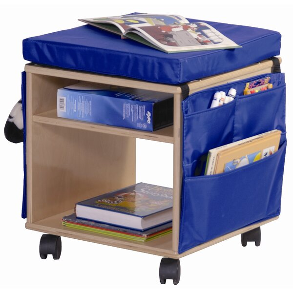Double Sided 2 Compartment Teaching Cart with Casters by Angeles