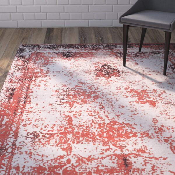 Sartori Classic Vintage Red Area Rug by Wrought Studio