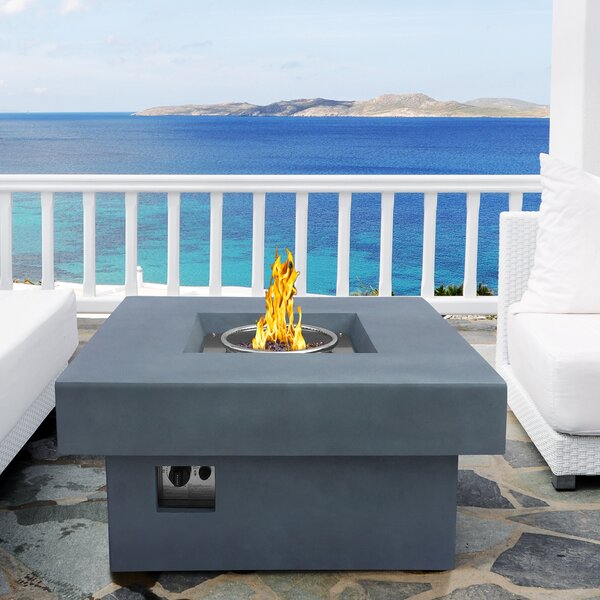 Marquee Stone Propane Gas Fire Pit Table by Armen Living