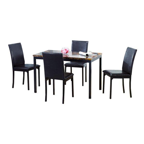 Della 5 Piece Dining Set by Ebern Designs