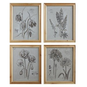 Pure 4 Piece Framed Painting Print by Creative Co-Op
