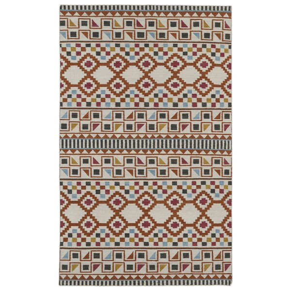 Marble Falls Flat-Woven Paprika Area Rug by Wrought Studio
