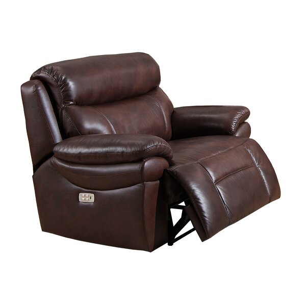 Kubik Leather Power Recliner by Red Barrel Studio