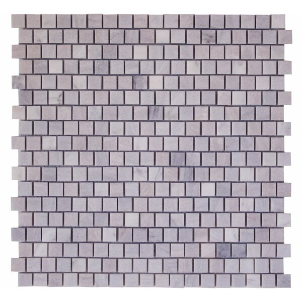 0.63 x 0.63 Marble Mosaic Tile in Tempesta Mare by Ephesus Stones