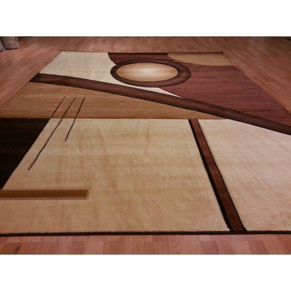 Hand-Carved Brown/Beige Area Rug by Rug Tycoon