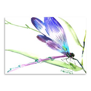 Dragonfly Painting Print by East Urban Home