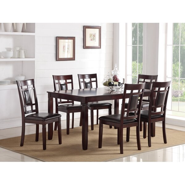 Chun Modish Rubberwood 7 Piece Solid Wood Dining Set by Red Barrel Studio