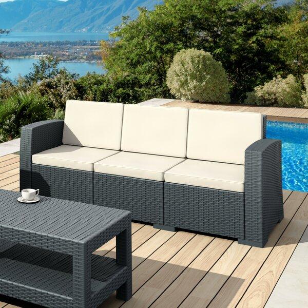 Vedder Resin Patio Sofa with Cushion by Brayden Studio Brayden Studio