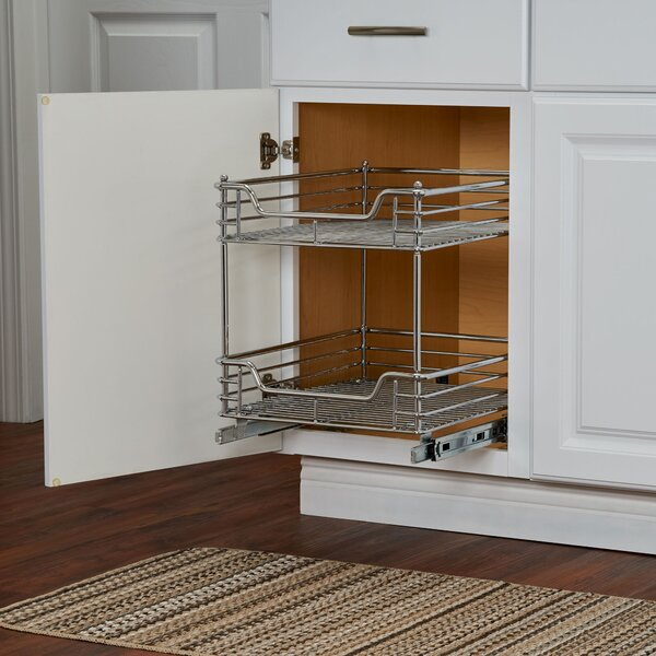 2 Tier Sliding Pull Out Drawer by Rebrilliant