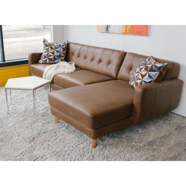 Elva Leather Sectional by Corrigan Studio