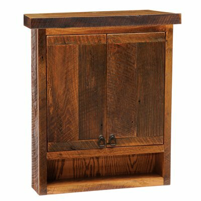 Barnwood 32 W x 36 H Wall Mounted Cabinet by Fireside Lodge