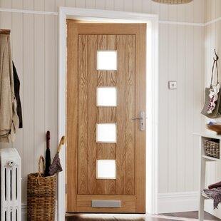 Manufactured Wood 4 Panels Unfinished Glazed External Door