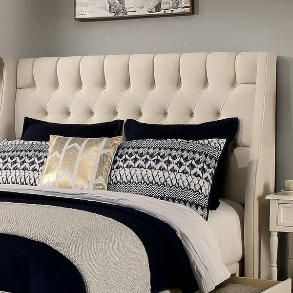 Difranco Upholstered Wingback Headboard by Darby Home Co