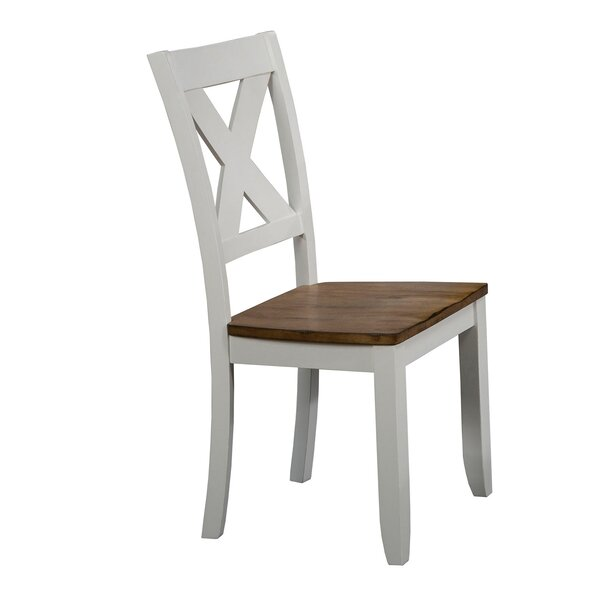 Tibbetts X Back Solid Wood Dining Chair (Set of 2) by August Grove