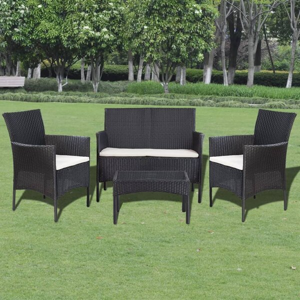 Tavistock Garden 4 Piece Sofa Seating Group with Cushions by Ivy Bronx