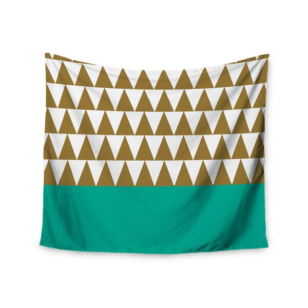 Geo Green by Suzanne Carter Wall Tapestry by East Urban Home