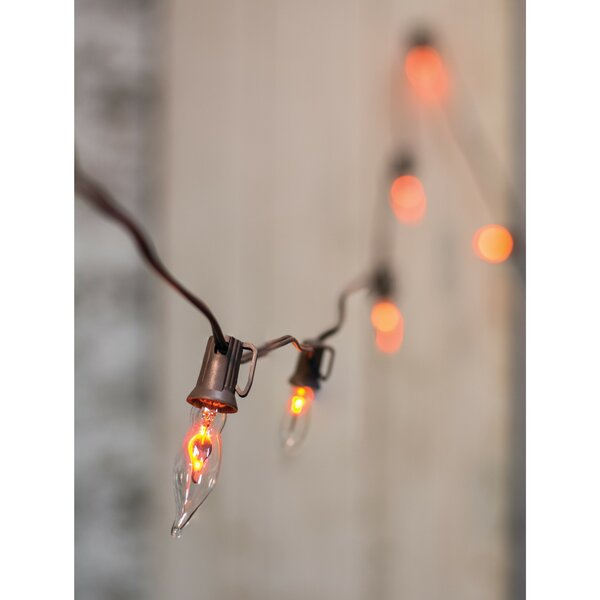 Flicker Flame Strand Cord 10 Light String Lights by Gracie Oaks