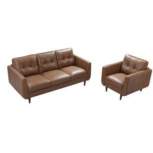 Chewton Mendip Leather Configurable Living Room Set by Latitude Run®