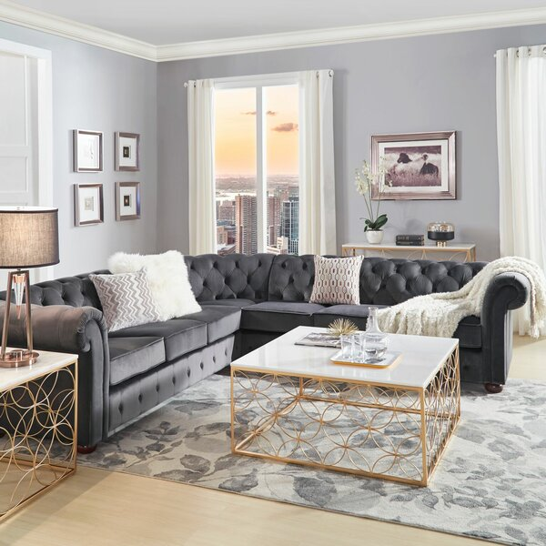 Esai 117'' Right Hand Facing Sectional by Willa Arlo Interiors Willa Arlo Interiors
