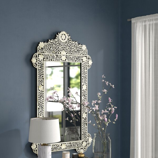 Dennison Bone Inlay Vertical Wall Mirror by Bungalow Rose
