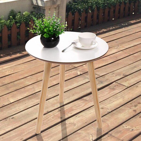 Scharf Wooden Side Table by Corrigan Studio