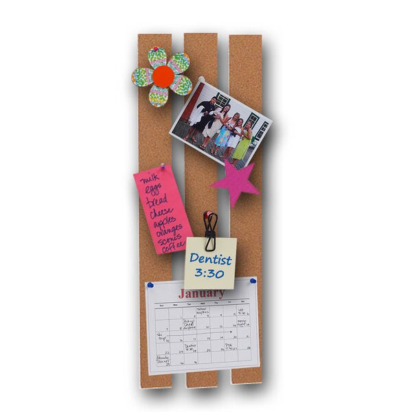 Wall Mounted Cork Message Bars Bulletin Board, 2 x 20 (Set of 24) by Flipside Products