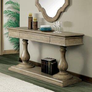 Nice Parman Pedestal Console Table