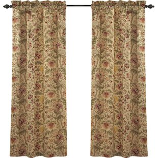 Imperial Dress Nature/Floral Room Darkening Rod Pocket Single Curtain  Panel. By Waverly