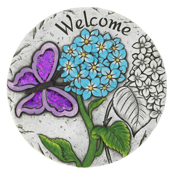 Macaluso Welcome Butterfly Garden Stepping Stone by Winston Porter