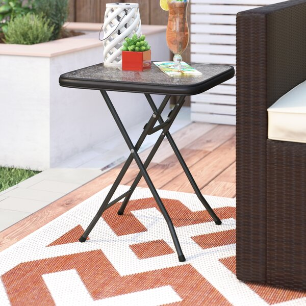 Floyd 16 Square Folding Side Table by Ebern Designs