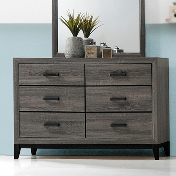 Crowley 6 Drawer Double Dresser by Union Rustic