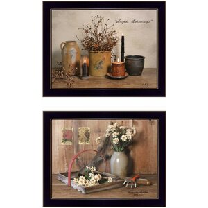 'Simple Blessings' 2 Piece Framed Graphic Art Print Set by Trendy Decor 4U