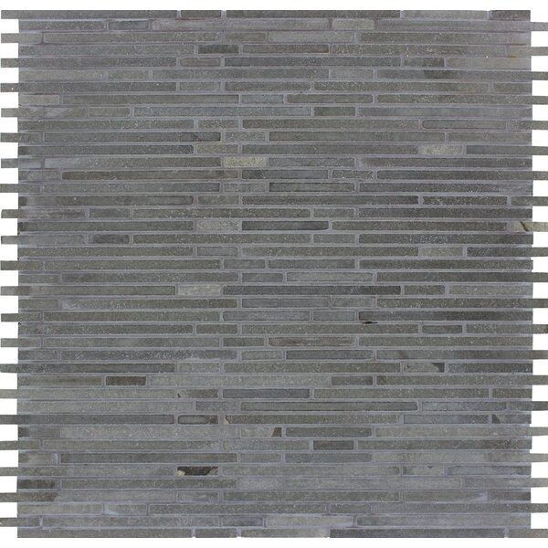 Bamboo Honed Basalt Mosaic Tile in Blue by MSI
