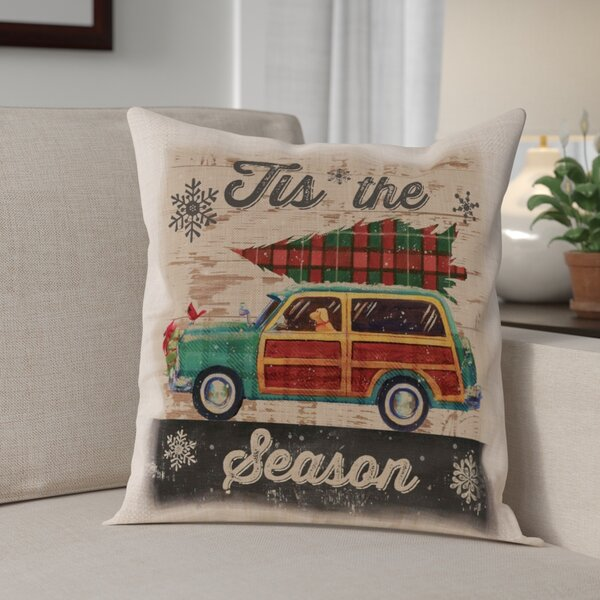 Christmas Plaid Square Pillow Cover by The Holiday Aisle